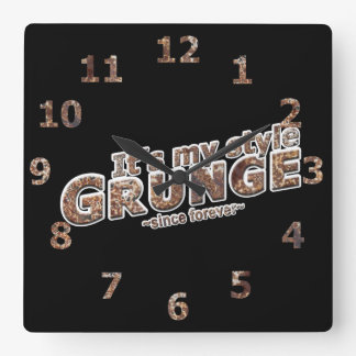 It's My Style GRUNGE Rusty Letters Square Wall Clock