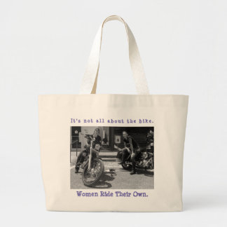 It's not all about the bike. large tote bag