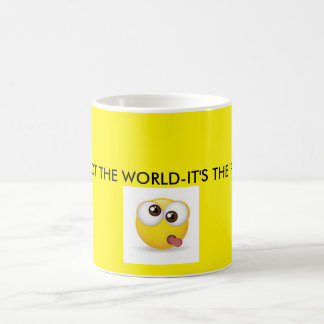 It's not the world-it's the people yellow mug