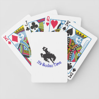 Its Rodeo Time Bicycle Playing Cards