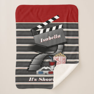 It's Showtime Cinema Sherpa Blanket