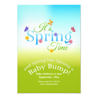 It's Spring Time Pregnancy Announcement