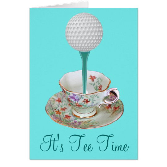 It's Tee Time Golf Note Cards, Invitations for Her