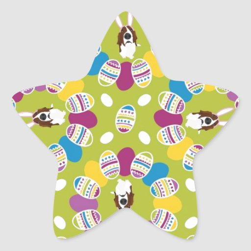 It's the Easter Basset Star Stickers