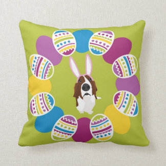 It's the Easter Basset Throw Pillow