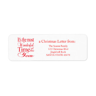 It's the most wonderful time of the year return address label