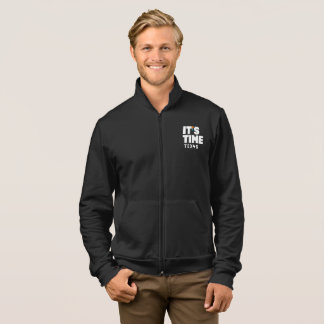 IT'S TIME TEXAS Men's Full Zip Jacket