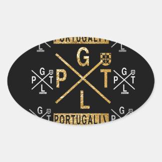 IV PORTUGAL OVAL STICKER