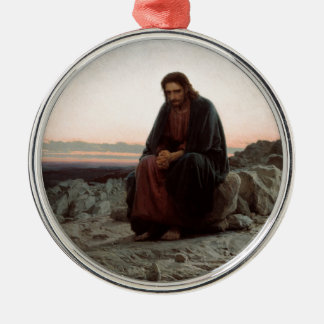 Ivan Kramskoy- Christ in the Wilderness- Fine Art Christmas Ornament