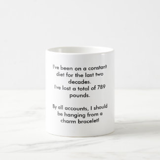 I've been on a constant diet for the last two d... basic white mug