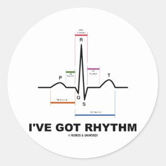 I've Got Rhythm (ECG - EKG Heart Beat) Stickers