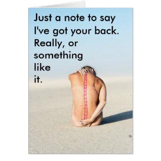 """I've Got Your Back"" any occasion spine card"