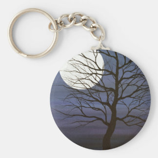 I've Touched the Moon Basic Round Button Key Ring