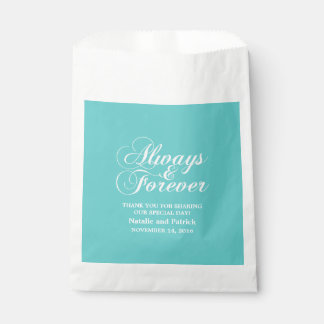 Ivory Always & Forever Wedding Favor Bags Favour Bags