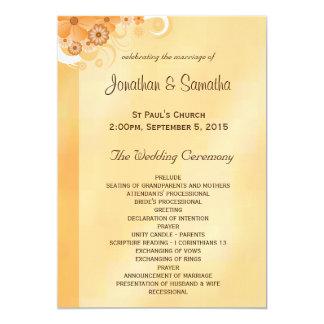 Ivory and Gold Floral Elegant Wedding Programs