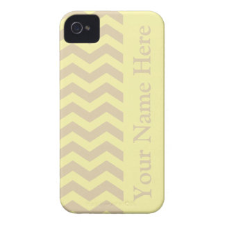 Ivory Cream Neutral Chevrons iPhone 4 Cover