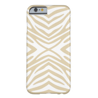 Ivory Neutral Zebra Barely There iPhone 6 Case