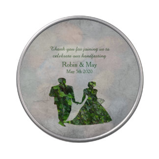Ivy Green Man & Green Lady Jelly Belly Favor Tin Jelly Belly Candy Tins