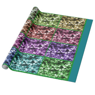 Ivy Leaf Colour Progression Linen Wrapping Paper