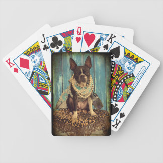 Ivy the Boston Terrier Bicycle Playing Cards