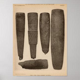 IX Stone pipes, So Calif Poster