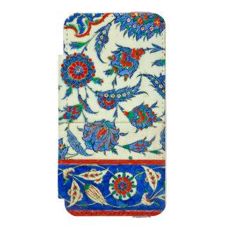 Iznik tile, turkish floral design incipio watson™ iPhone 5 wallet case
