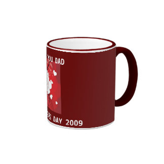 j0437132, HAPPY FATHERS DAY 2009, I LOVE YOU DAD Ringer Coffee Mug