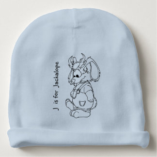 """""""J is for Jackalope"""" Baby Beanie"""