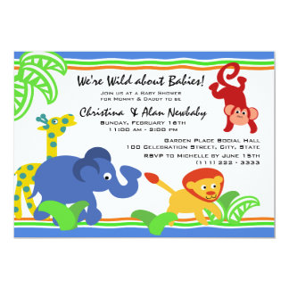 J is for Jungle Baby Shower Card