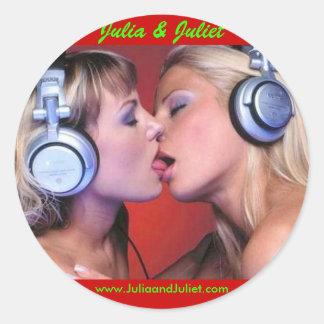 J&J Round Sticker