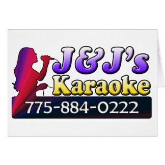 J&J's Karaoke Card