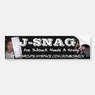 J-SNAG BUMPER STICKER