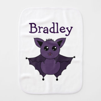 Jac the Bat Flying by night Burp Cloth