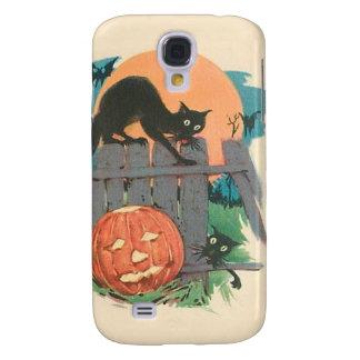 Jack O' Lantern Black Cat Bat Full Moon Galaxy S4 Case