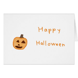 Jack-o-lantern greeting card with envelope