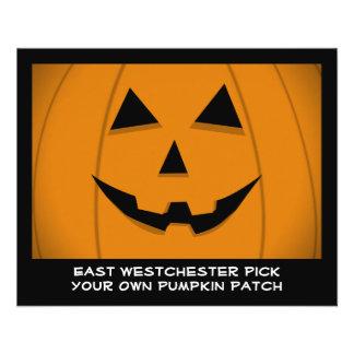 Jack-O-Lantern Pumpkin Graphic Customizable Flyer