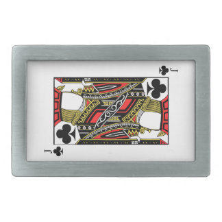 Jack of Clubs - Add Your Image Rectangular Belt Buckle