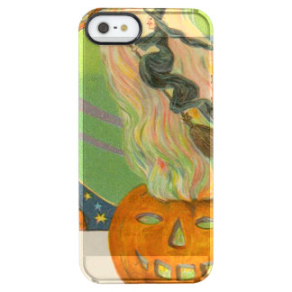 Jack O'Lantern Pumpkin Witch Fire Demon Clear iPhone SE/5/5s Case