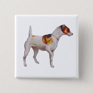 Jack Russel 15 Cm Square Badge