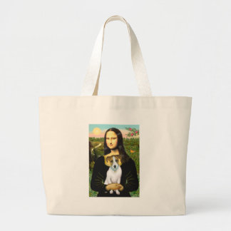 Jack Russell 10 - Mona Lisa Large Tote Bag