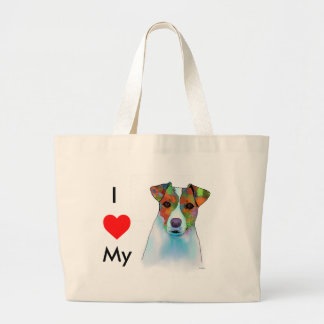 Jack Russell Large Tote Bag