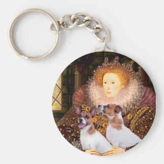 Jack Russell Pair - Queen Key Ring