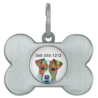 Jack Russell Pet Name Tag