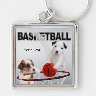 Jack Russell Puppy Basketball Key Chain Version #3