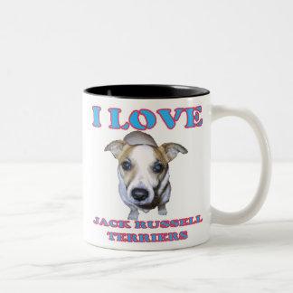 Jack Russell Terrier Mug. Two-Tone Coffee Mug