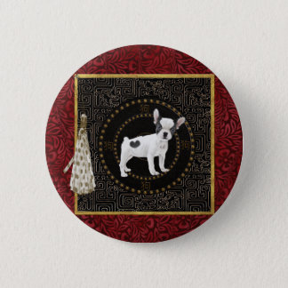 Jack Russell Terriers, Round Shape, Sign Chinese 6 Cm Round Badge
