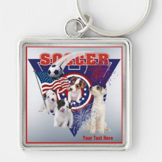 Jack Russell US Flag Soccer Design – Customize It Key Ring