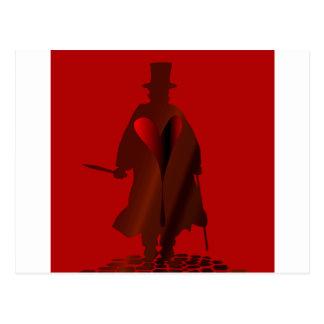 Jack the Ripper Heart Postcard