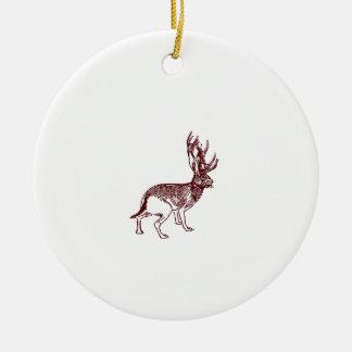 Jackalope Christmas Ornament