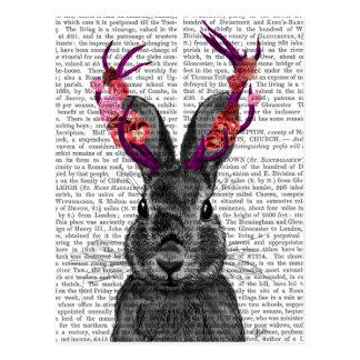 Jackalope with Pink Antlers Postcard